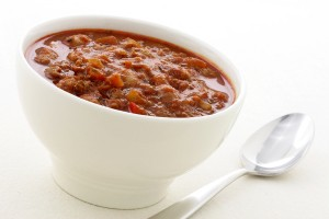 Gourmet chili beans with extra lean beef