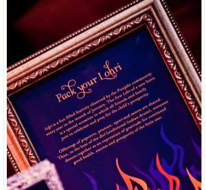 Pic: http://blog.hwtm.com/2012/07/gorgeous-first-lohri-celebration-bonfire-motif/