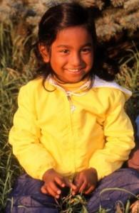 Shaaren Pine as a young girl