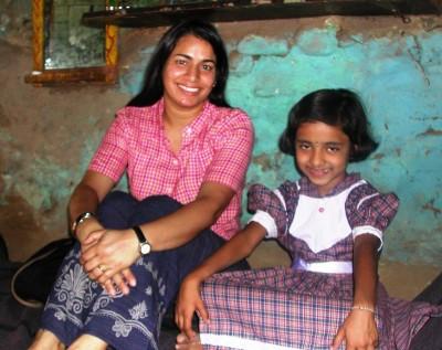 Sarita with her sponsored daughter