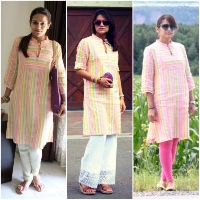 tanvi with kurta pajamas three looks