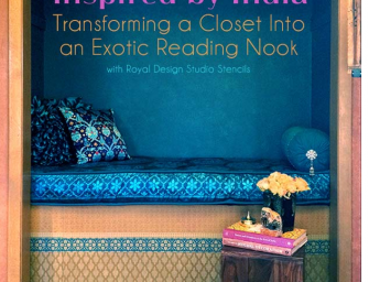 Turn a Closet into Indian-Inspired Reading Nook