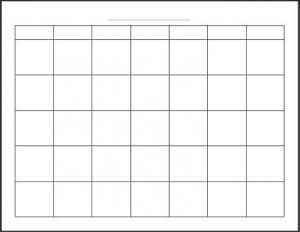 Blank Monthly Calendar Picture