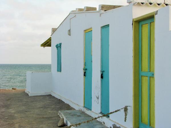 Huts at karachi beach