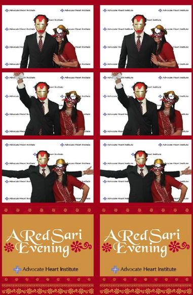 Having a little fun  at the Red Sari Gala!