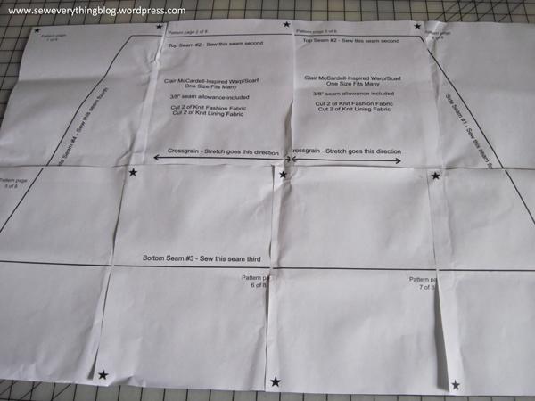 Put together pattern printout