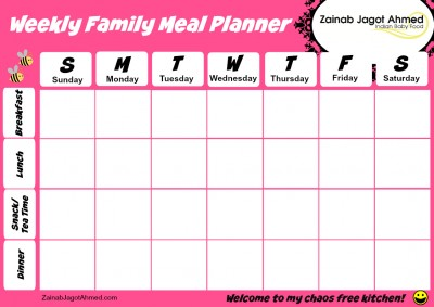 Family Meal Planner with Snack
