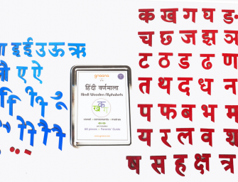 Teaching Tool for Kids: Hindi Moveable Alphabet