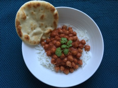 CHANA MASALA WITH MARINARA SAUCE