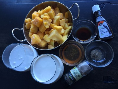 Mango kulfi ingredients