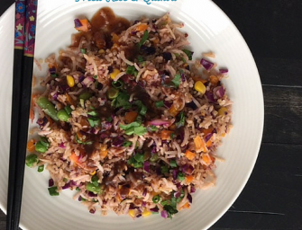 Indian-Chinese Style Fried Rice and Quinoa