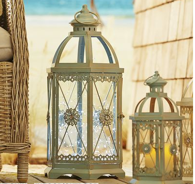 Morrocan style lantern by Pier 1