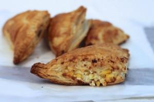 Roasted Corn & Mushroom Cheese Puffs