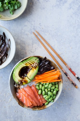 Avocado Sushi Edamame bowl