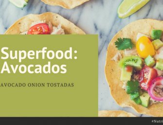 Avocado Marinated Onion Tostadas