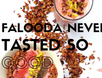 Recipe: Falooda Inspired Smoothie and Smoothie Bowl