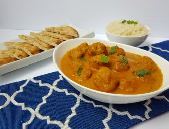 Malai Kofta Curry with Turkey Meatballs